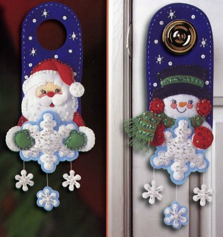 Новогодний декор для дверной ручки