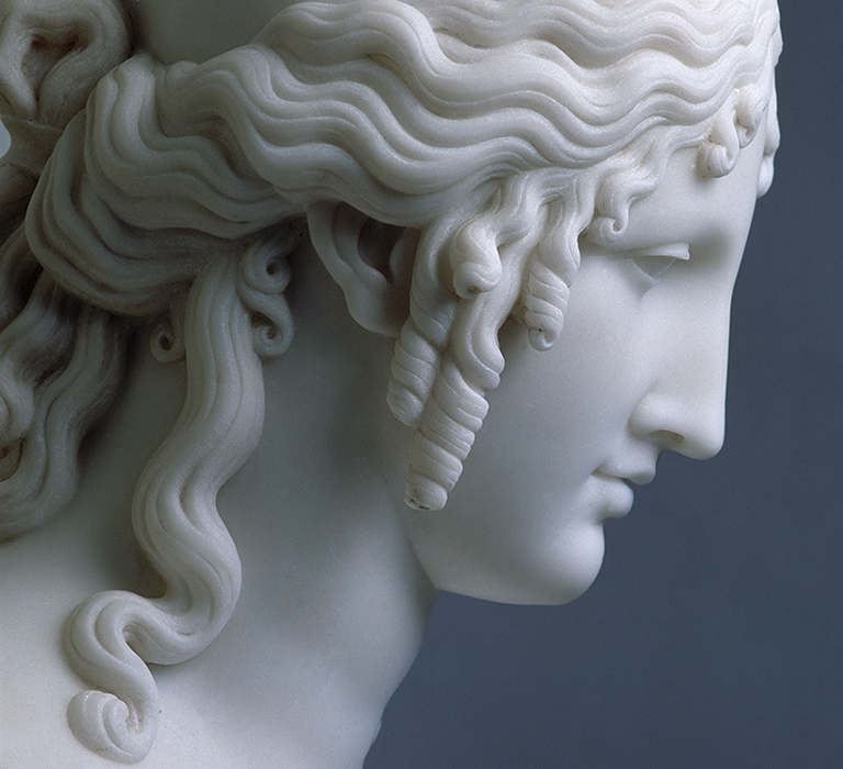 Detail of <Head of Helen> by Antonio Canova