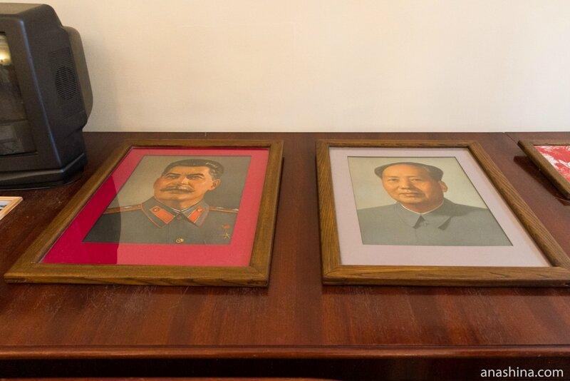 Портреты Сталина и Мао Цзэдуна