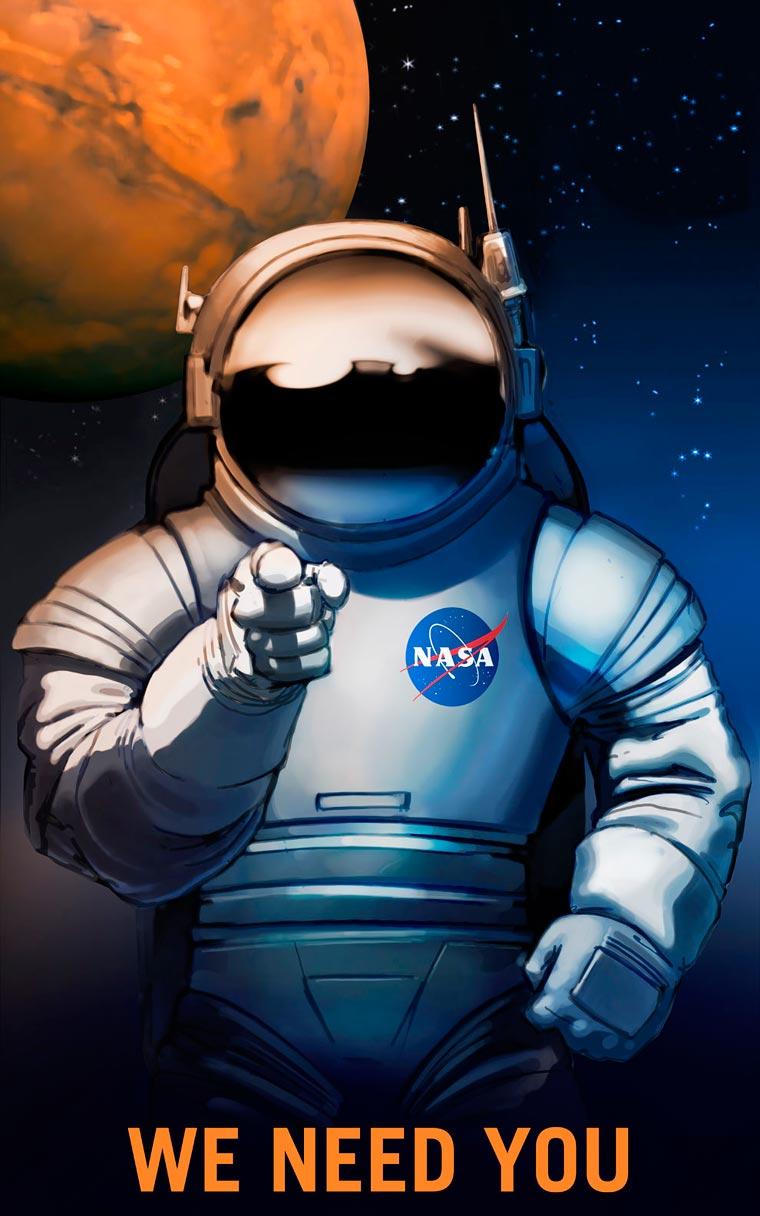 Mars needs you! - La NASA recrute ses explorateurs avec des posters vintage
