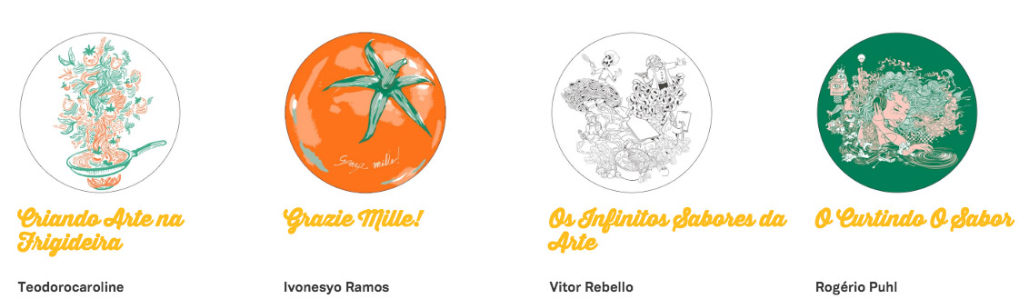 """Vote na sua arte favorita do concurso """"Minha Cozinha Italiana"""" da Spoleto"""