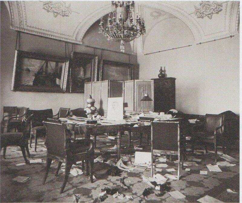 Рапорт смотрителя комнатного имущества Зимнего дворца Н. Н. Дементьева