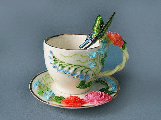 "Чайная бара ""Бабочка на голубых цветах"""