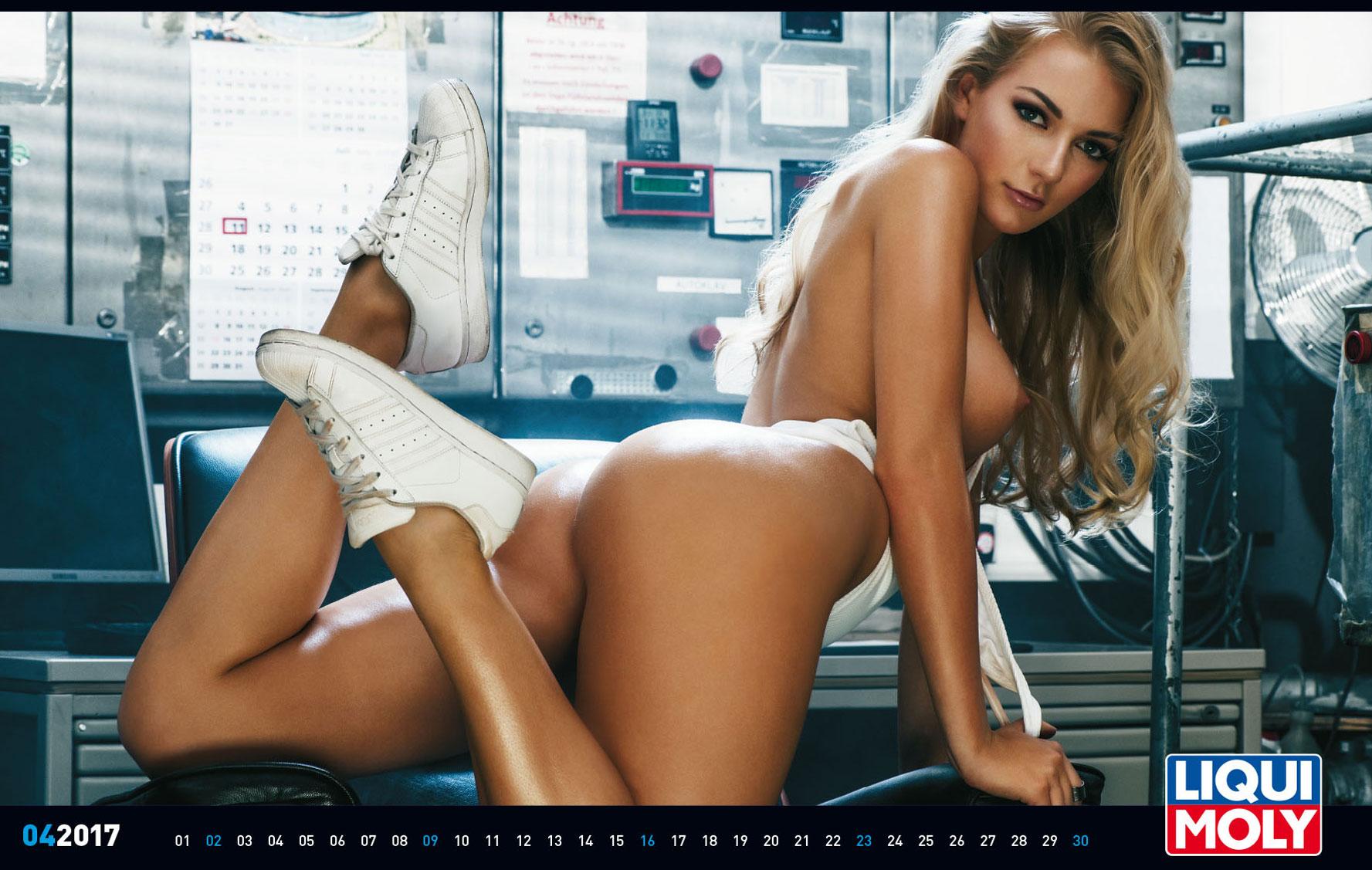 Эротический календарь Liqui Moly на 2017 год
