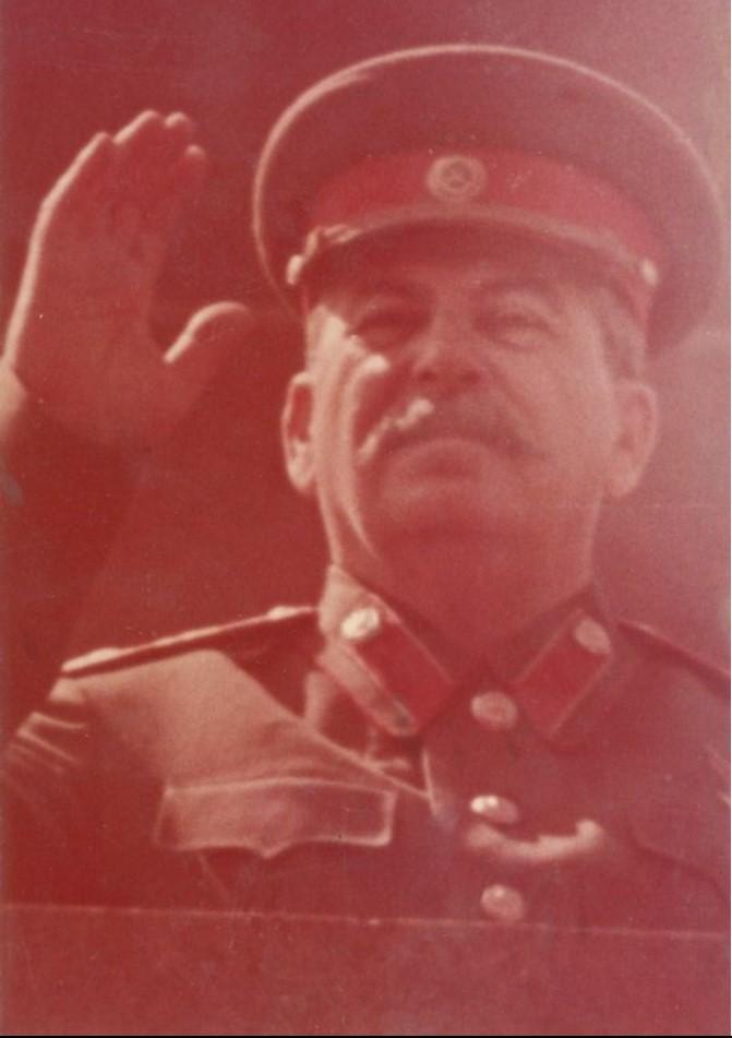 Иосиф Сталин на трибуне Мавзолея