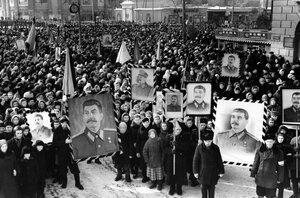 Воронеж. Траурные мероприятия, посвященные И.В. Сталину