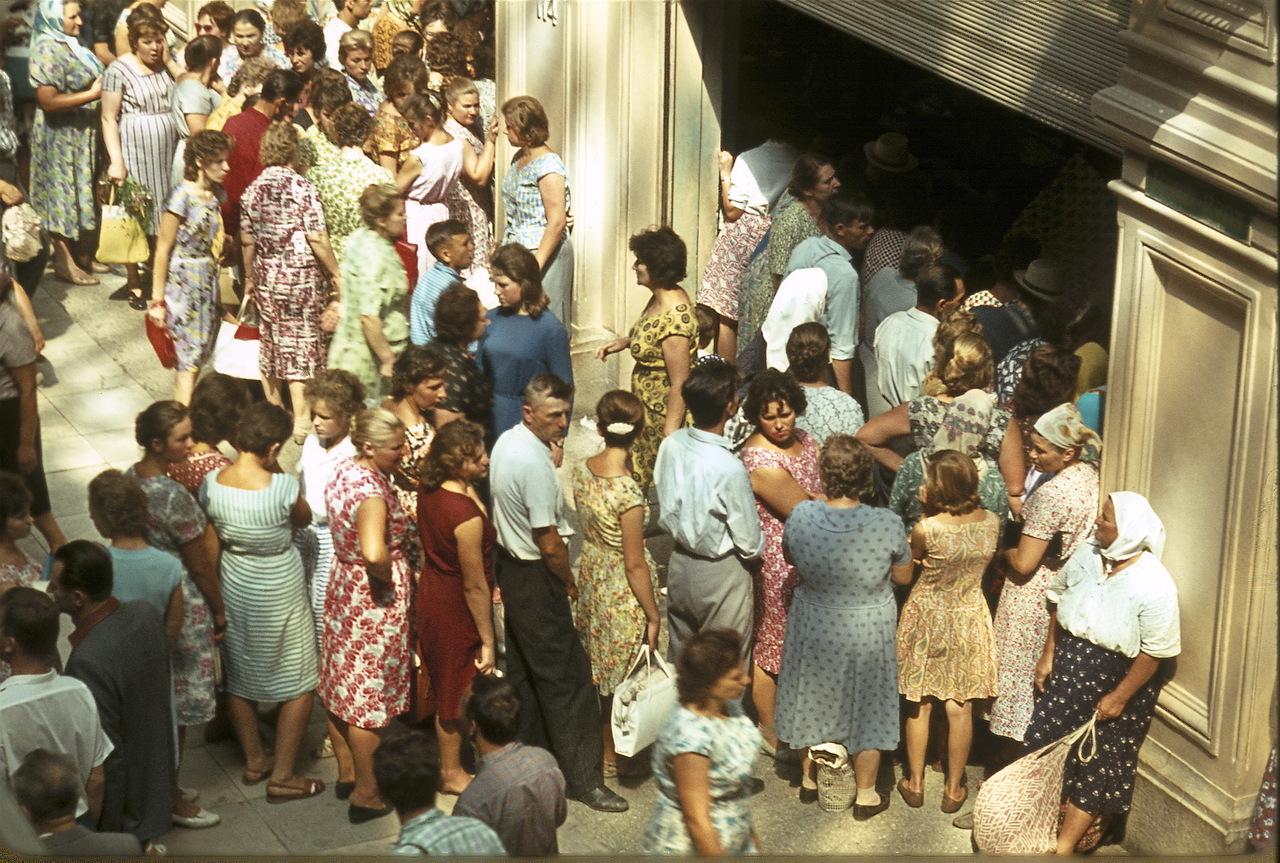 1970-е. Очередь в магазин