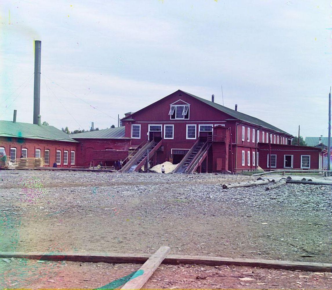 Ковжинский лесопильный завод. Река Ковжа