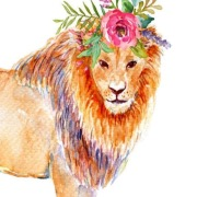 Лев рисунок