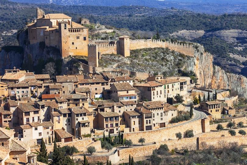 Alquezar - beautiful medieval village in Aragon mountains. Spain