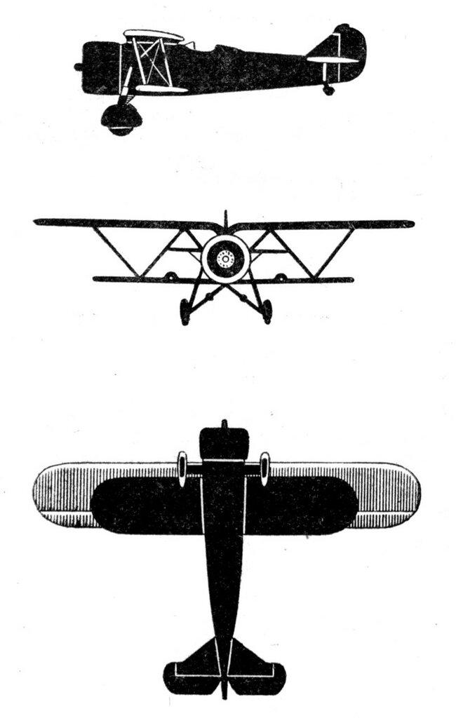 Силуэты итальянских самолетов (1939) 005