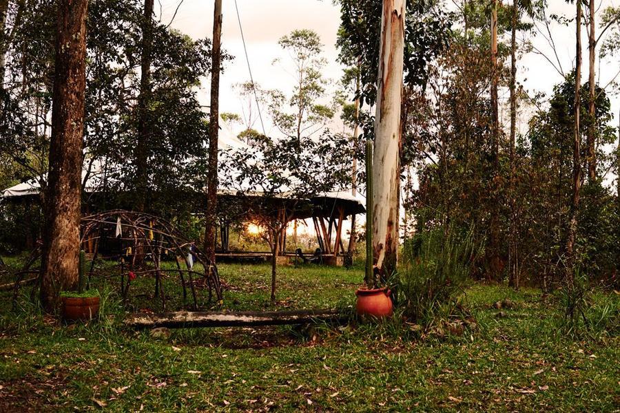 """Обряд жителей колумбийского эко-поселения """"Поиск видений"""""""