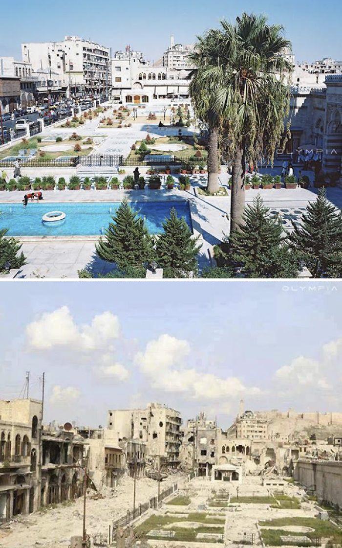 15 фото о том, во что война превратила крупнейший город Сирии (15 фото)