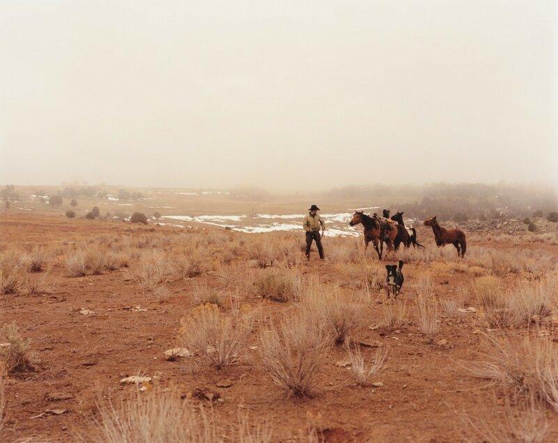 Джереми Карстен со своим табуном. Кортес, штат Колорадо, 2006 год.