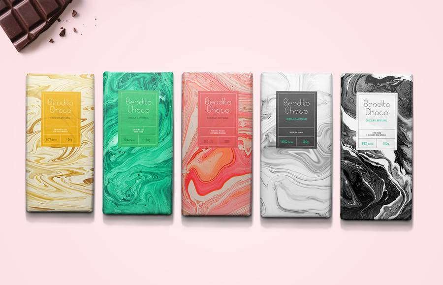 Marbled Packaging for Fine Chocolate (11 pics)