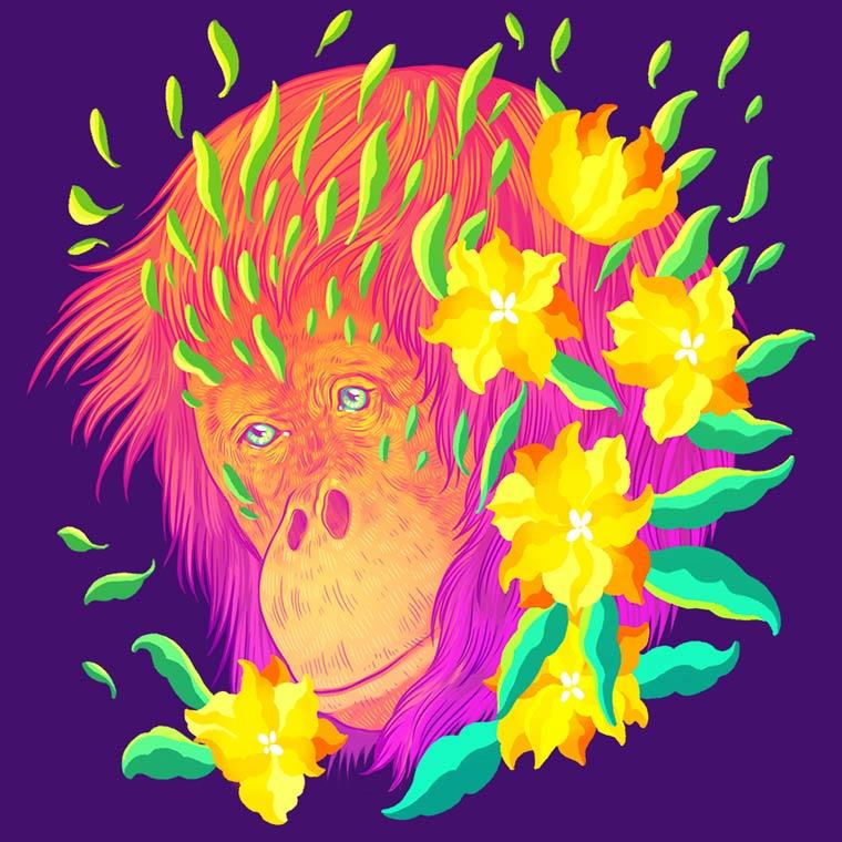 Galactic Cats - Les illustrations explosives et colorees de Jen Bartel