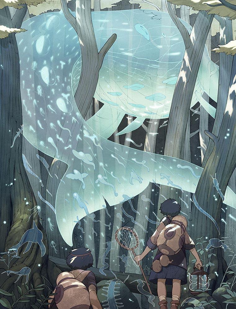 Catching Spirits - Les superbes illustrations de Kevin Hong