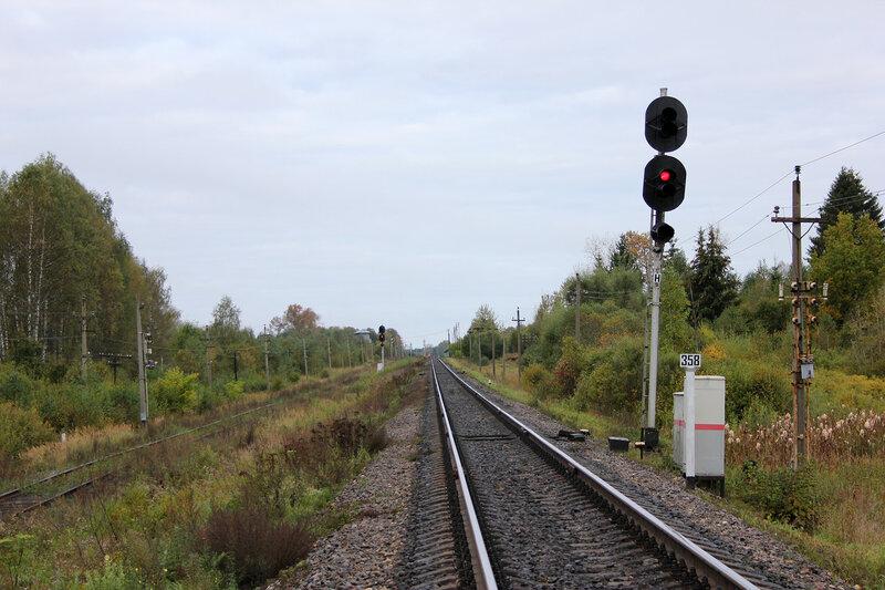Входной светофор Н станции Земцы со стороны станции Подсосенка