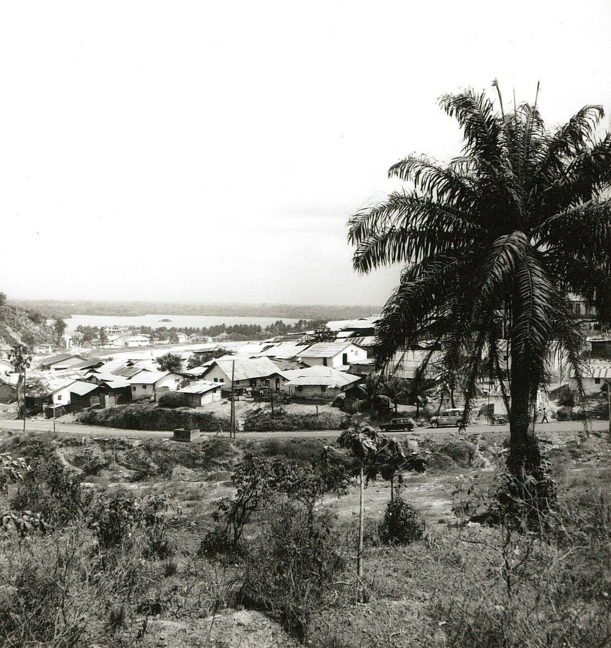 Сасандра. Вид поселка на окраине