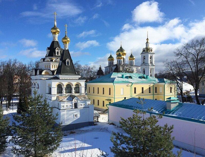 Елизаветинская церковь (1898) и Успенский собор (1507), Дмитров