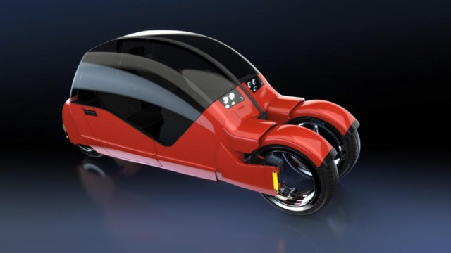 Concept Car Splits Into Two Motorcycles (14 pics)