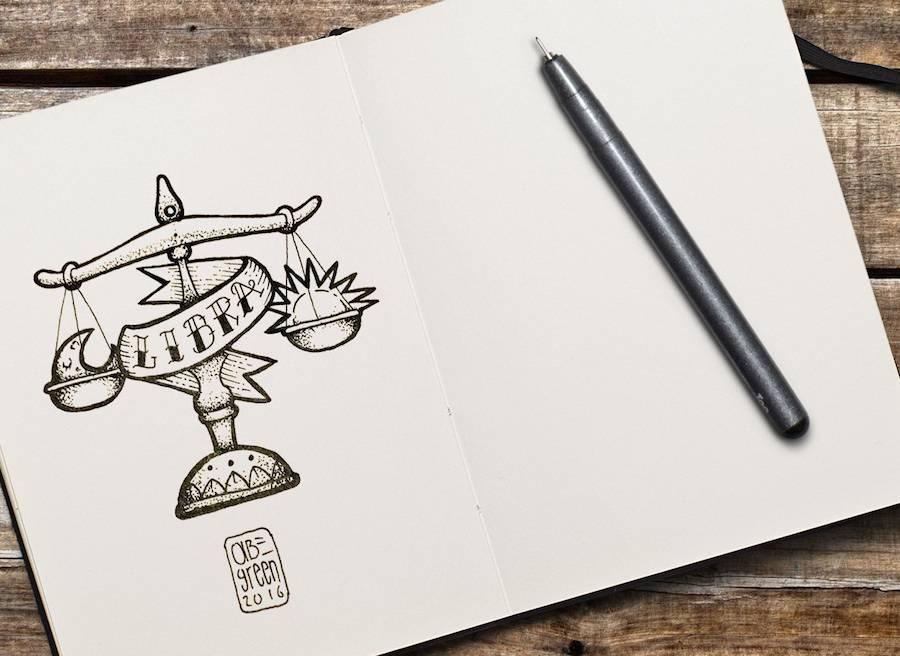 Os signos do zodiaco nas tatuagens de Abe Green