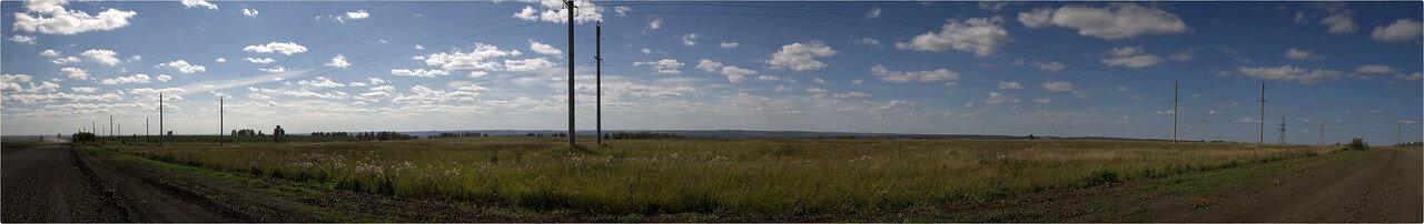 Панорама полей у дороги на Кедровку [NickFW. - 03.09.2017]