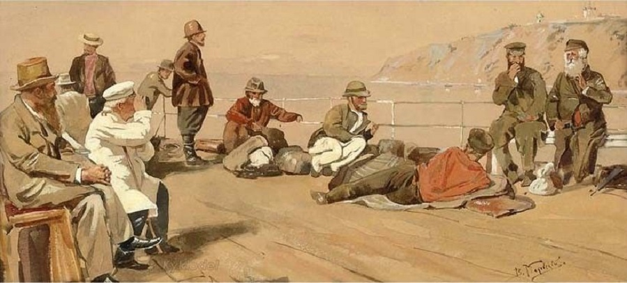 Sur la Volga , circa 1880