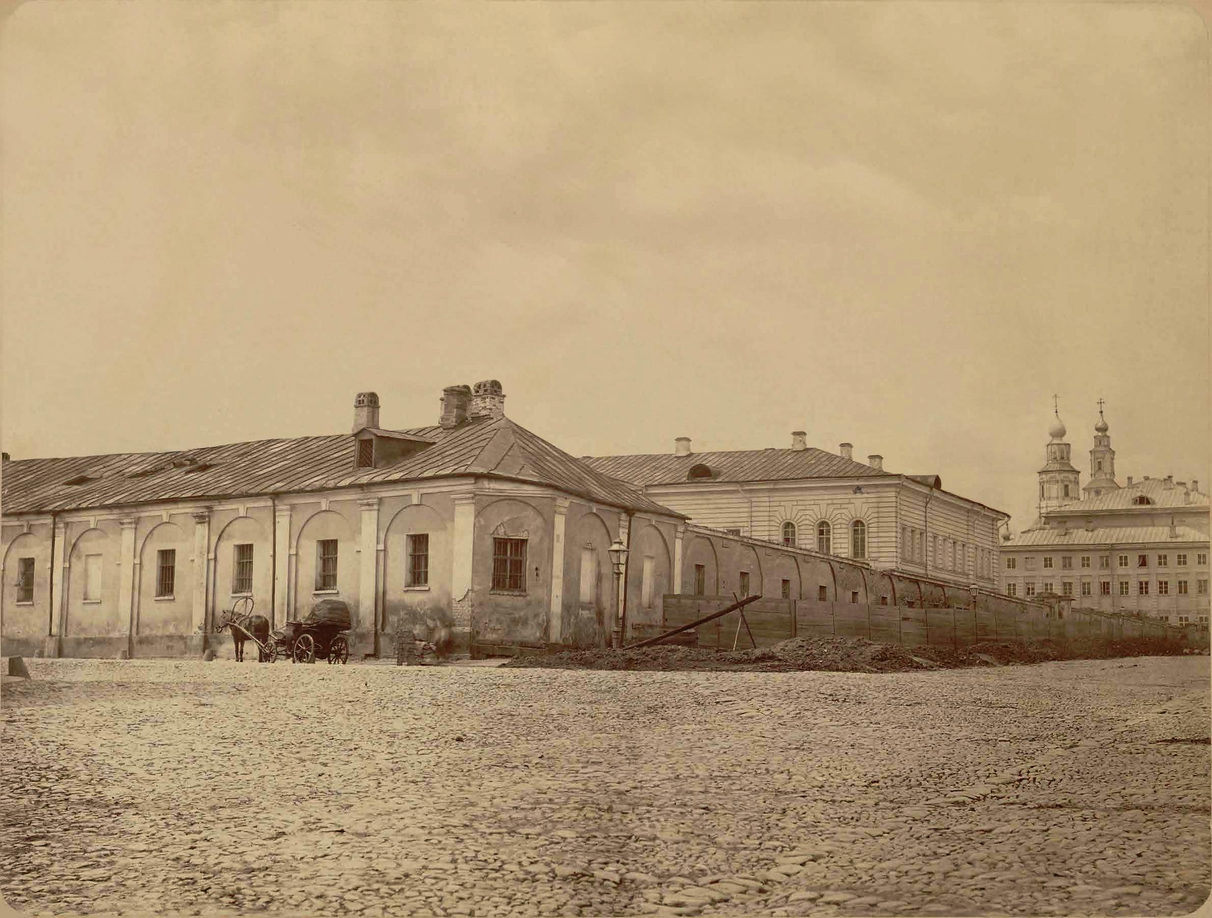 Палаты Нарышкиных на Воздвиженке. Служебные корпуса. 1860-е