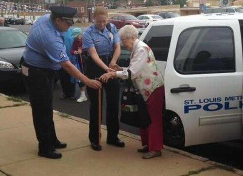 ВСША 102-летняя женщина попросила полицейских арестовать ее