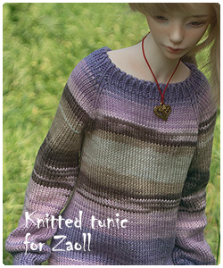 knitted tunic for zaoll