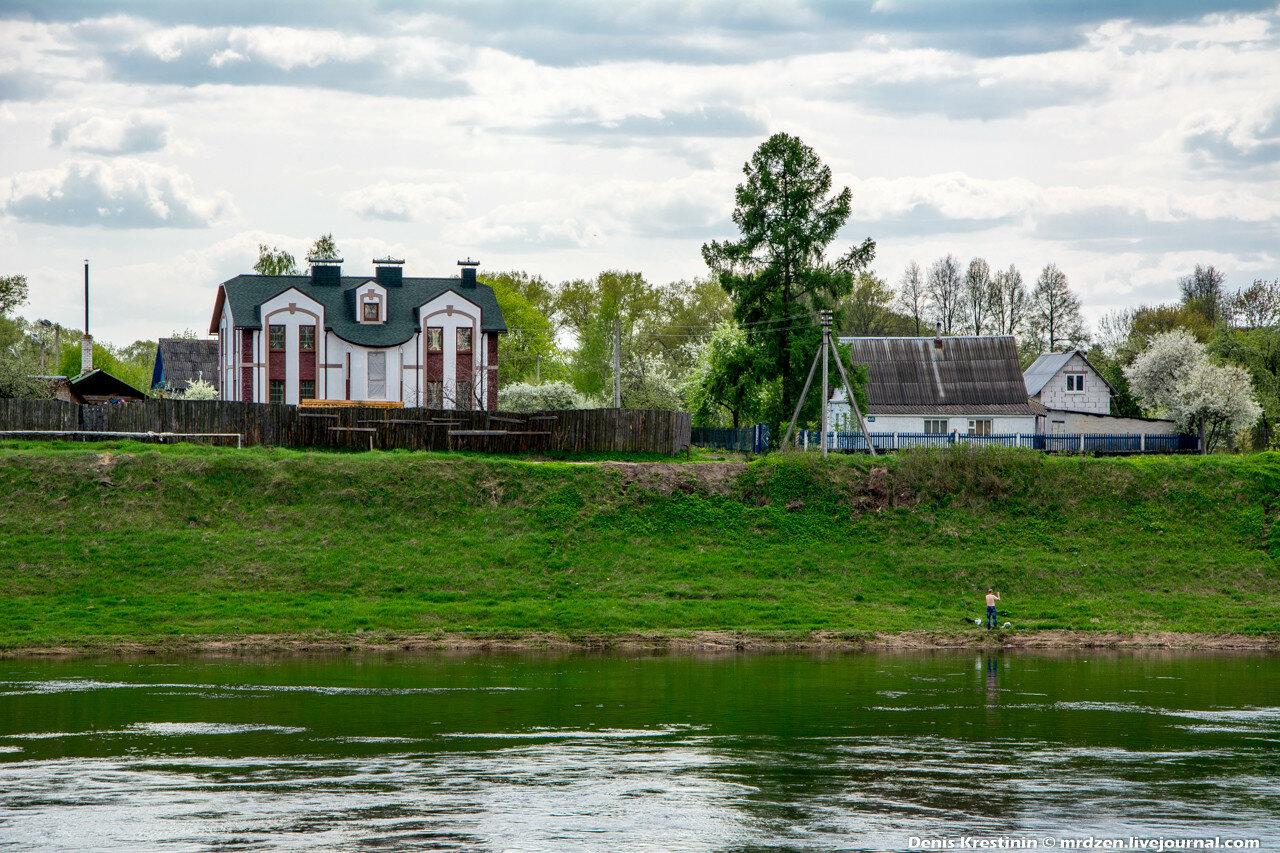 Полоцк. Панорама Задвинье. река - Западная Двина