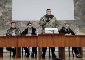 Бойцы ПС провели встречу со львовскими студентами