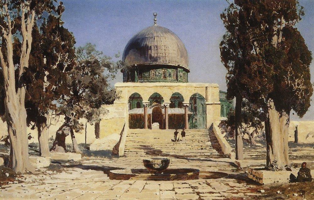 Харам Эш-Шериф - площадь, где находился древний иерусалимский храм. 1882.jpg