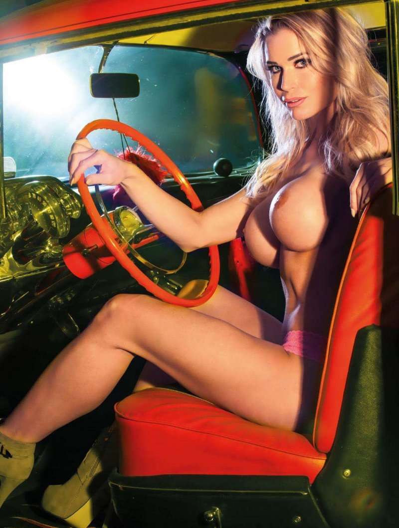 Garage Girl Ramona Bernhard in Playboy