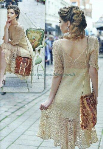 Платье из кид мохера спицами схемы