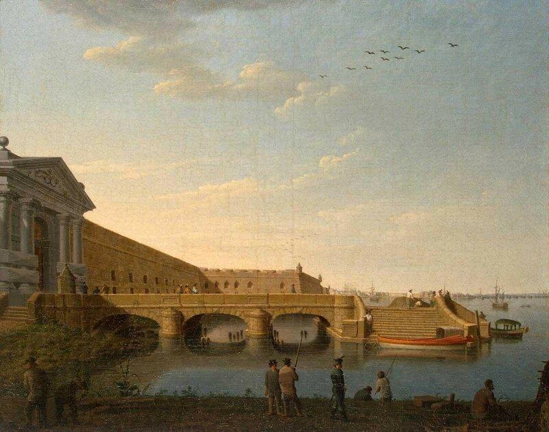 Невские ворота и Комендантская пристань Санкт-Петербургской крепости