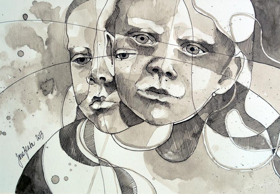 Люди и лица - Художник Jana Lepejova