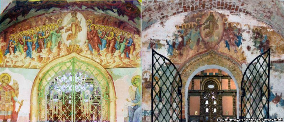 Фрески в церкви Святого Иоанна Крестителя в Ярославле, 1911/2011. Фото: В. Ратников.