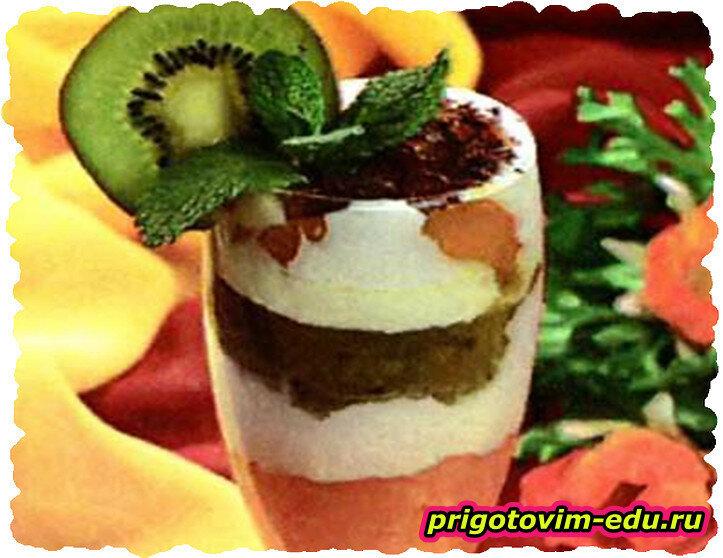 Фруктовый десерт с киви