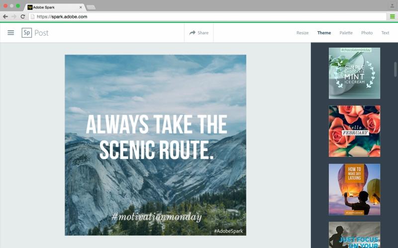 Adobe представила новый инструмент Adobe Post для «профессиональной графики»