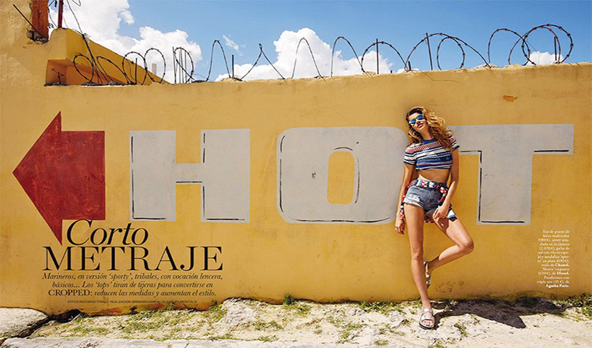 Ana Beatriz Barros for Elle Spain by Riccardo Tinelli