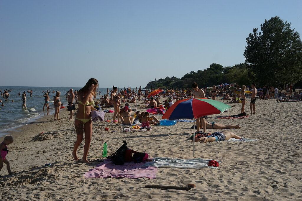 Пляж в с.Петрушино на Азовском море