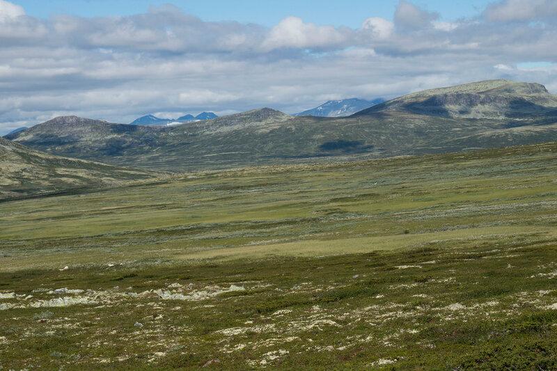 пейзаж с горами в Норвегии