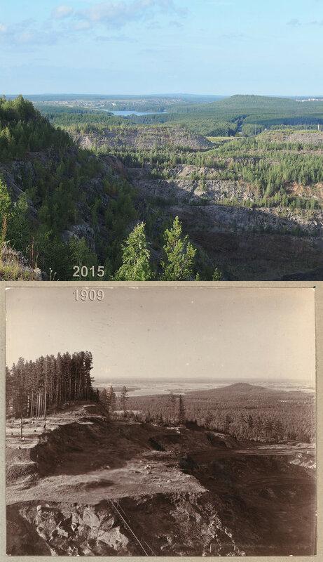 Часть разработки с лесной дачей. Вдали видна р. Тура.