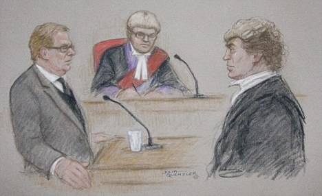 Harry Redknapp at Southwark Crown Court