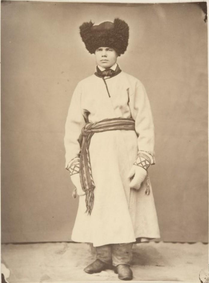 1867. Яаски. Мужчина в зимней одежде