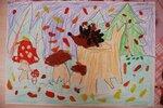 """Ульянова Надежда (рук. Смирнова Ирина Андреевна, Тонких Екатерина Николаевна) - """"Ёжик, правда любишь, осени дары?"""""""