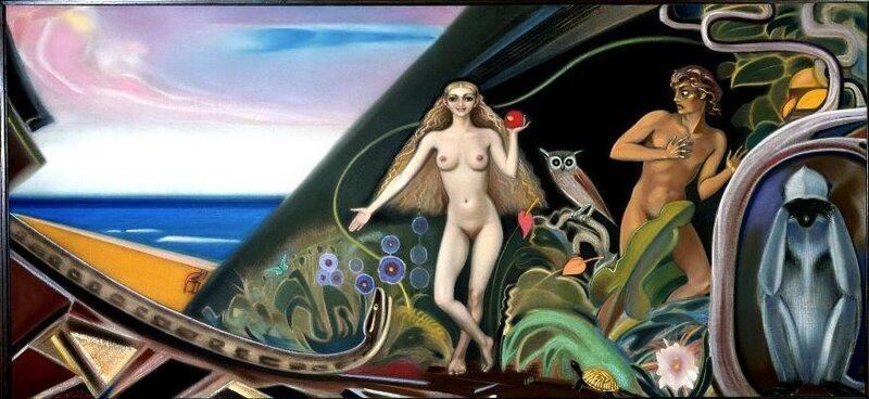 Святослав Рерих - Триумф Евы 1964 холст, темпера. 111,3x242,8 см.jpg