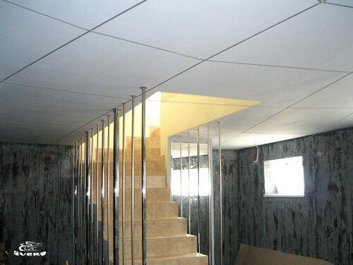 050. кинозал, лестница, ограждения лестницы, декоративная штукатурка, интерьер